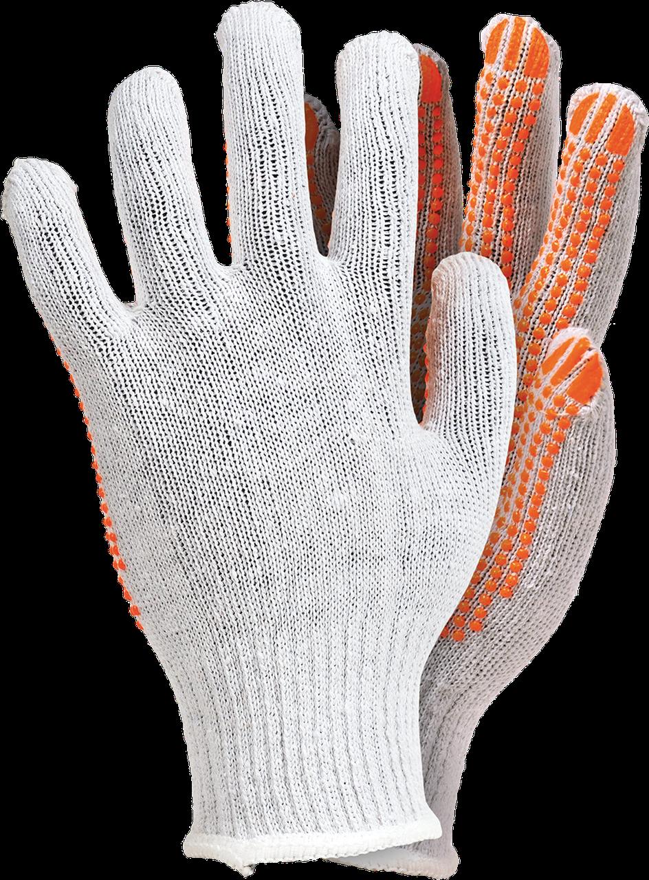 Перчатки защитные белого цвета, изготовленные из трикотажа RDZN-FLEXIFLUO WP Reis Польша