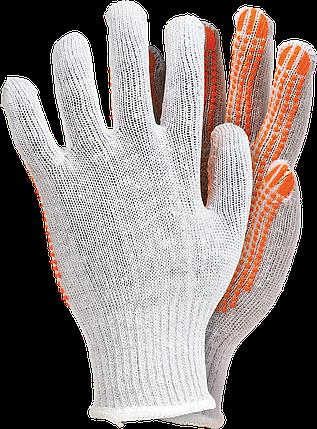 Перчатки защитные белого цвета, изготовленные из трикотажа RDZN-FLEXIFLUO WP Reis Польша, фото 2