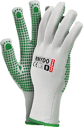 Защитные перчатки  RNYDO WZ  из нейлона с точечным покрытием ПВХ с одной стороны Reis Польша, фото 2