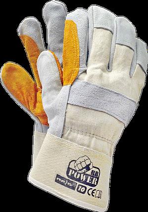 Перчатки защитные RBPOWER BEJSY кожаные рабочие Reis Польша , фото 2