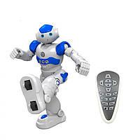 Робот FQ4005BLUE р/у,26,5см,реаг.на руку,муз,зв(англ),св,програм,танцт,USBзар,кор,30-18-12см  (Синий)