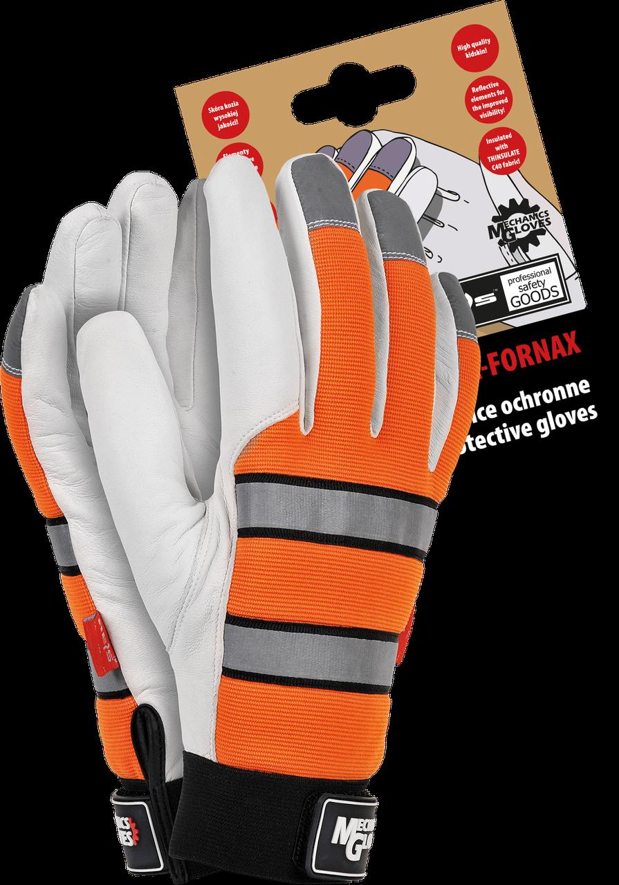 Мотоперчатки  RMC-FORNAX кожаные утепленные  Reis Польша (перчатки)