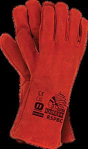 Перчатки рабочие кожаные длинные с подкладкой (краги) REIS Польша RSPBCINDIANEX C