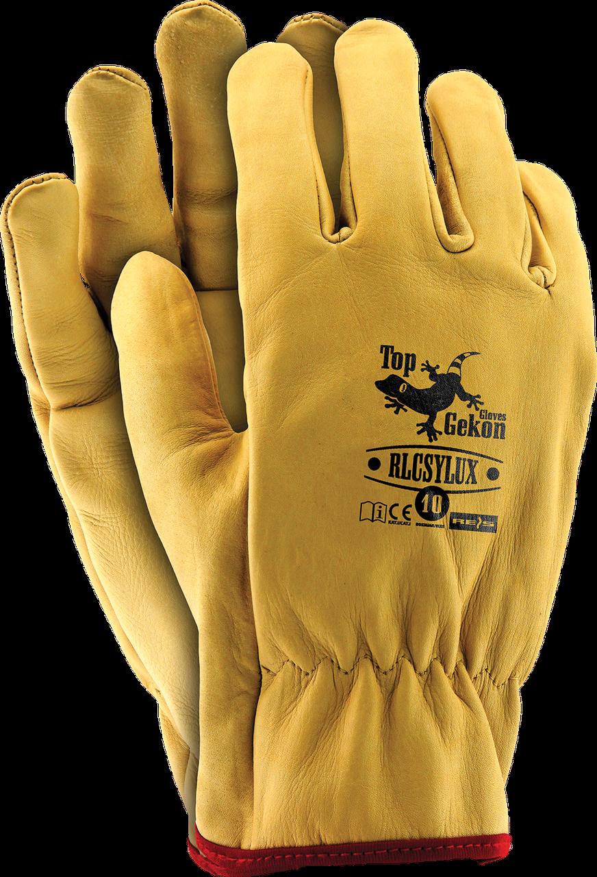 Перчатки RLCSYLUX Y защитные кожаные REIS (RAW-POL) Польша