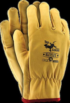 Перчатки RLCSYLUX Y защитные кожаные REIS (RAW-POL) Польша , фото 2