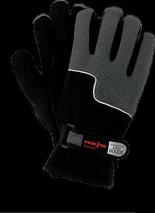 Зимние рабочие перчатки RPOLTRIP BS защитные, утепленные, изготовленные из флиса  REIS, фото 2
