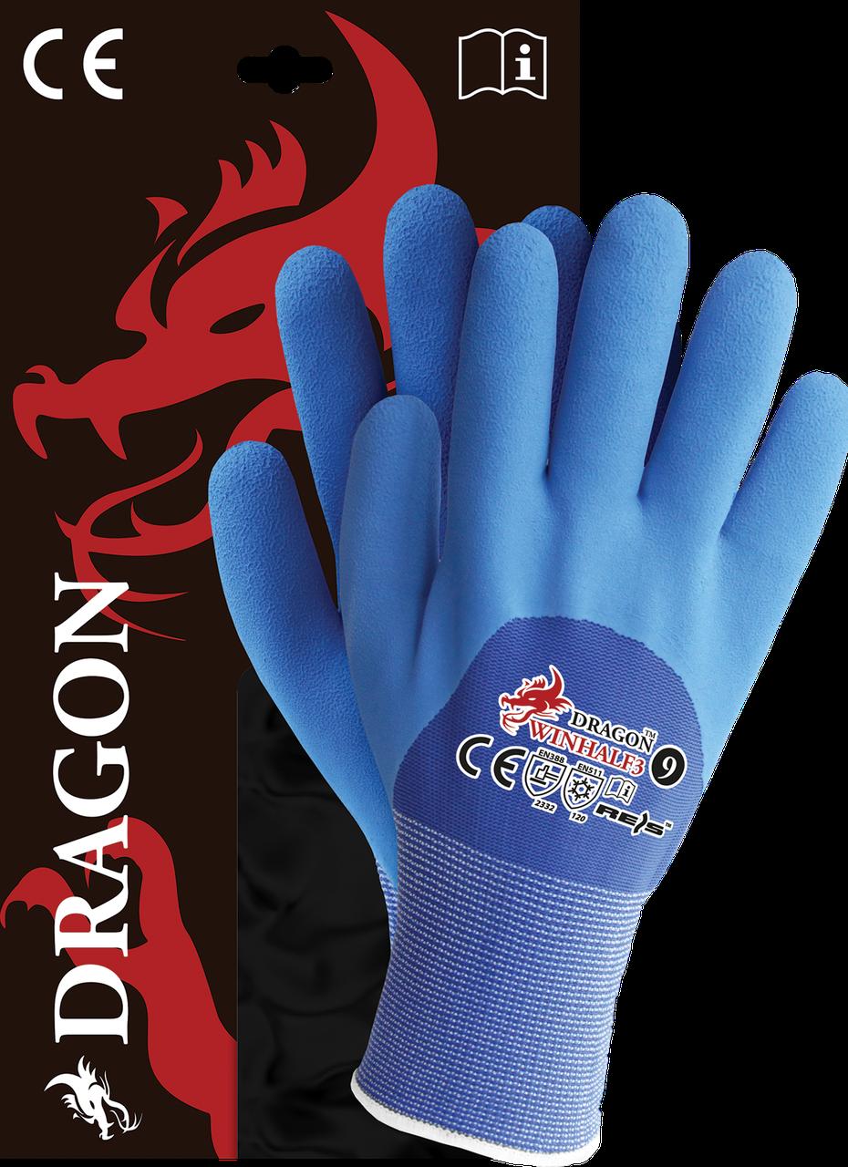 Перчатки WINHALF3 GN защитные утепленные, проклеенные