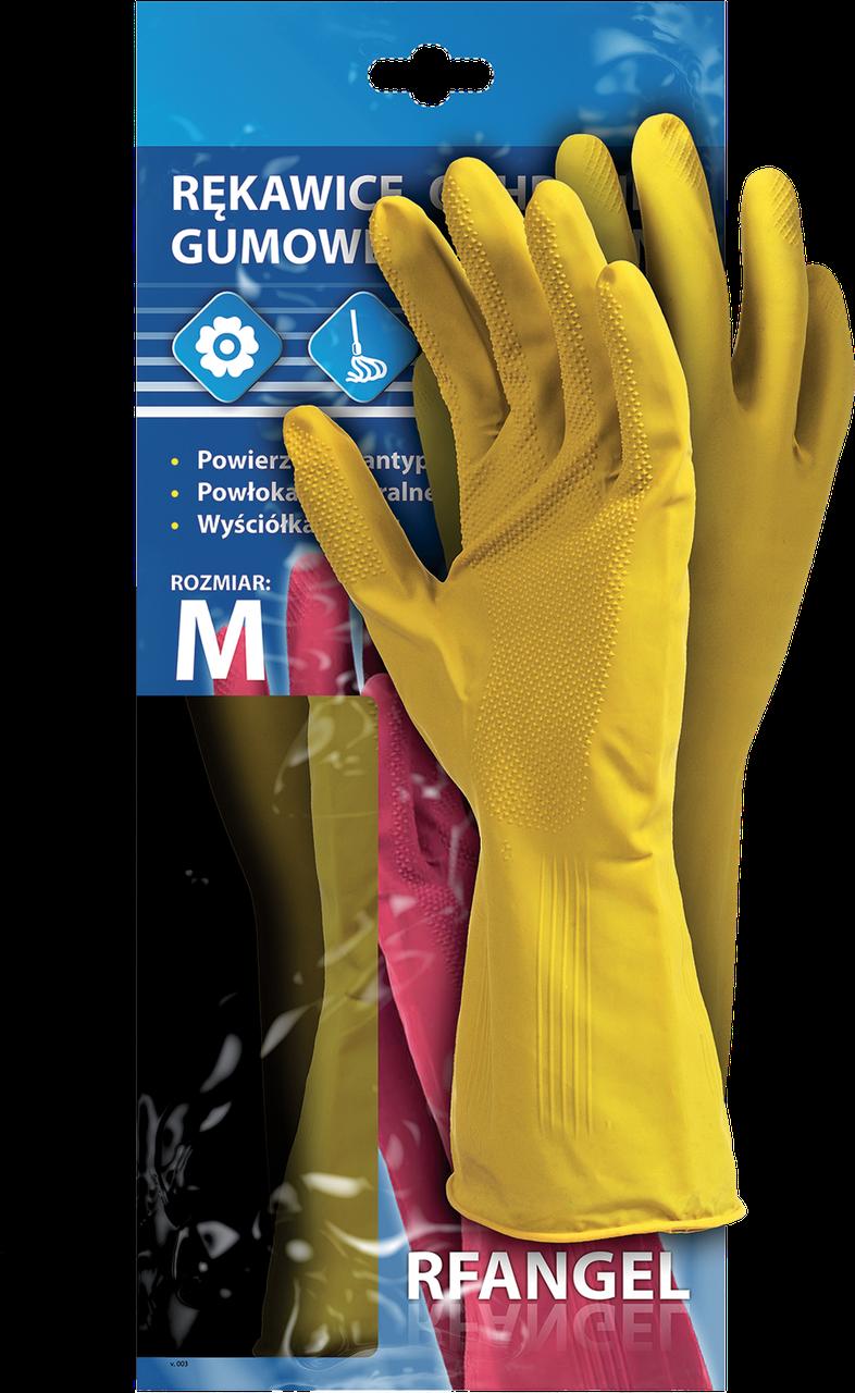 Перчатки защитные резиновые флоковые RF Y рабочие, Reis Польша