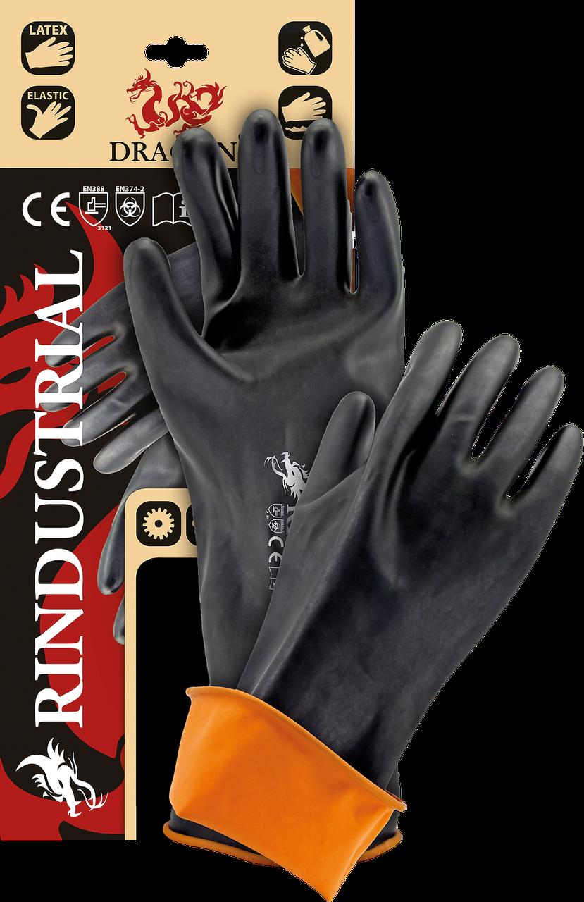 Защитные рукавицы, изготовленные из резины с продленной манжетой 45 cm RINDUSTRIAL BP