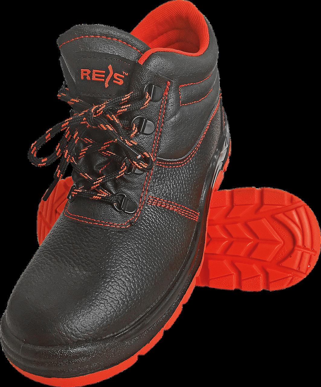 Ботинки REIS BRYESK-T-SB c металлическим носком 39 черного цвета с красной подошвой (BRYESK-T)