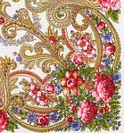"""Платок шерстяной  с шелковой бахромой """"Милый друг"""", 89x89 см. рис.1345-3, фото 2"""