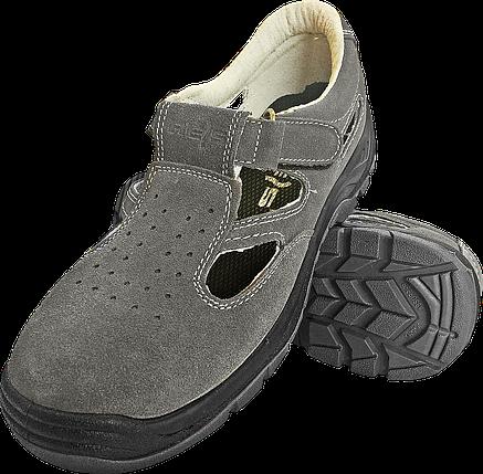 Сандали BRAVEL-S1 SB рабочие кожаные с метноском REIS Польша (обувь защитная) , фото 2