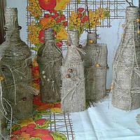 Декоративная бутылка-стильный элемент интерьера.необычный подарок