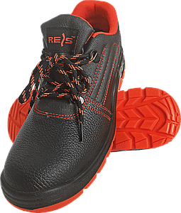 Полуботинки REIS BRYESK-P c металлическим носком 39 черные с красной подошвой(BRYESK-P)