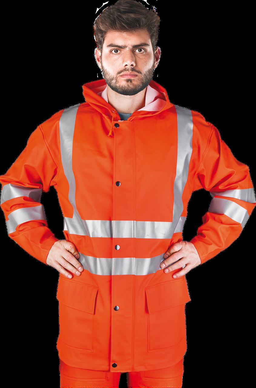 Куртка KPLPUFLUO P сигнальная рабочая водостойкая  REIS Польша