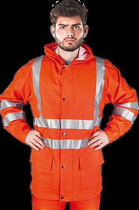 Куртка KPLPUFLUO P сигнальная рабочая водостойкая  REIS Польша, фото 2