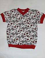 Детская футболка на манжете с якорями Размер 110 - 116 см