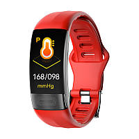 P11 фитнес браслет тонометр давление крови ЭКГ кардио пульсомер для iPhone Android спорт трекер красный