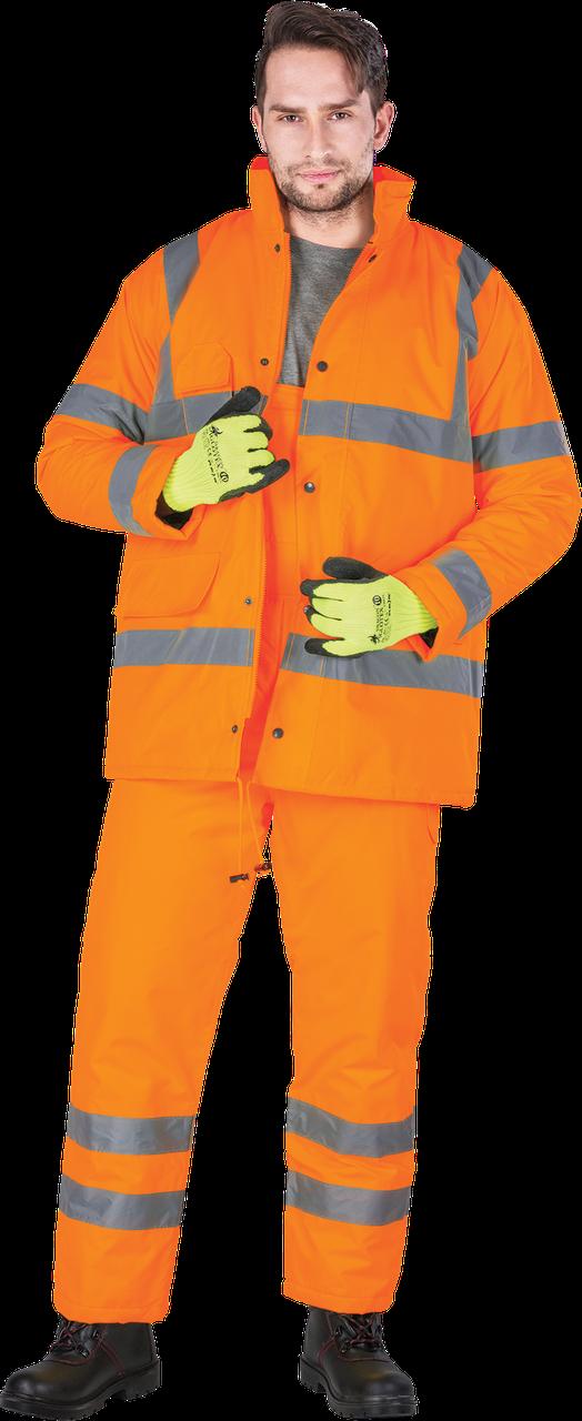 Костюм U-VIS P зимний с светоотражающими полосами рабочий оранжевой REIS Польша (спецодежда сигнальная)