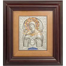 """Ключниця настінна дерев'яна з іконою Божої Матері """"Семистрільна"""""""