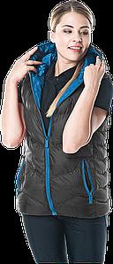 Жилетка BUTTERFLY B зимняя черная женская Reis Польша (безрукавка рабочая)