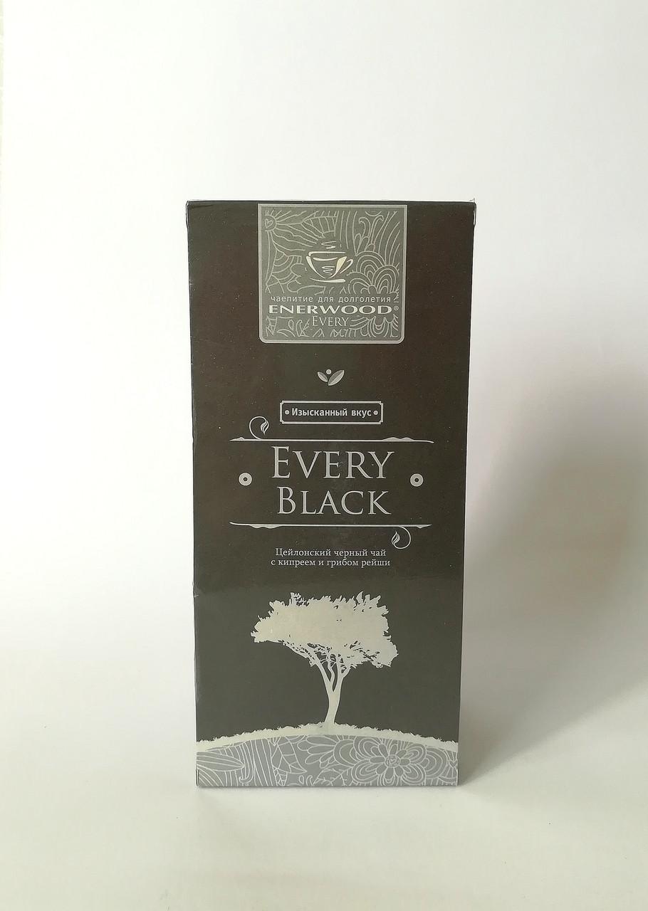 Чай черный с кипреем и грибом рейши пакетированнный Every Black Enerwood 33 x 2 г (1119)