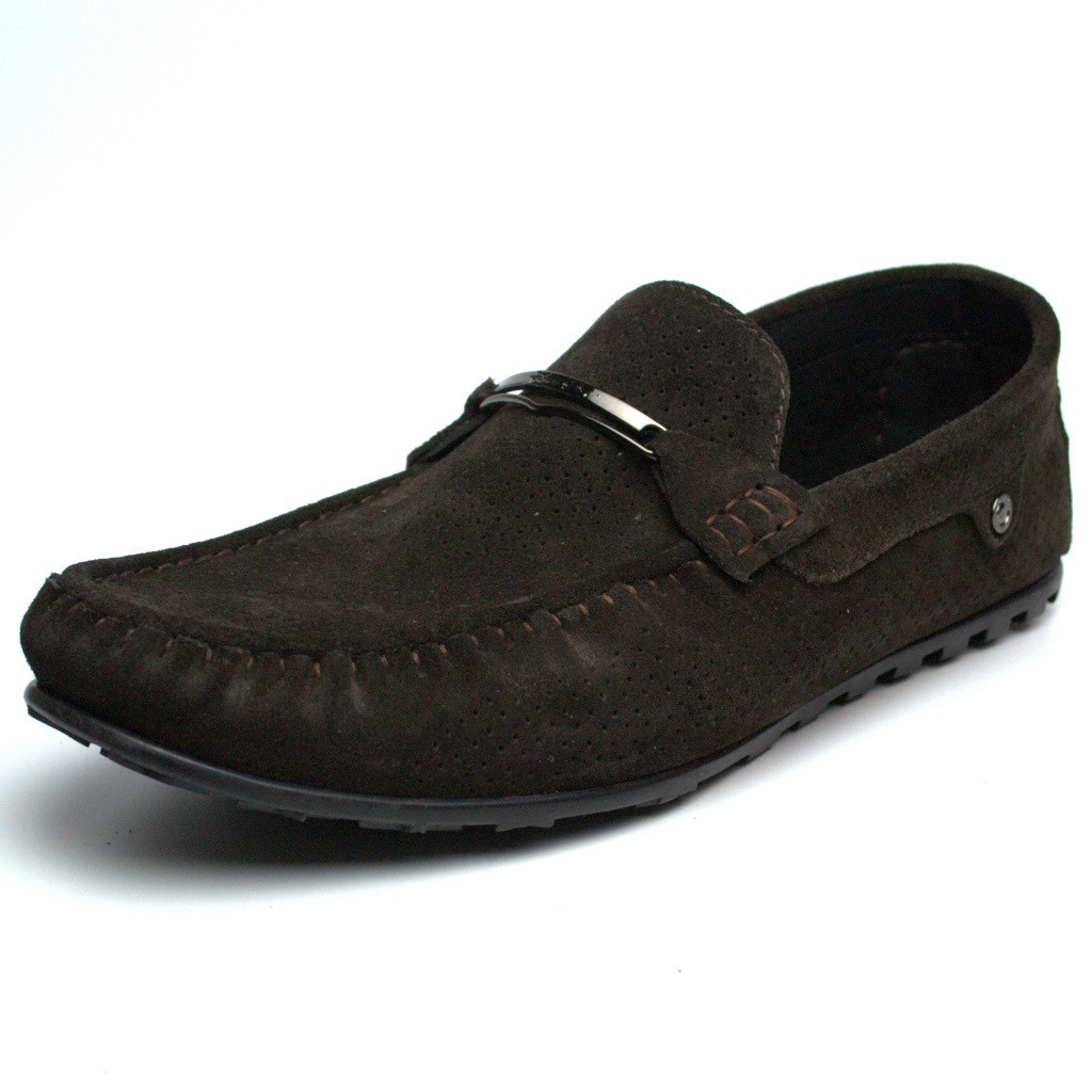 Летние мокасины замшевые коричневые с перфорацией мужская обувь больших размеров Rosso Avangard Cross Wood BS