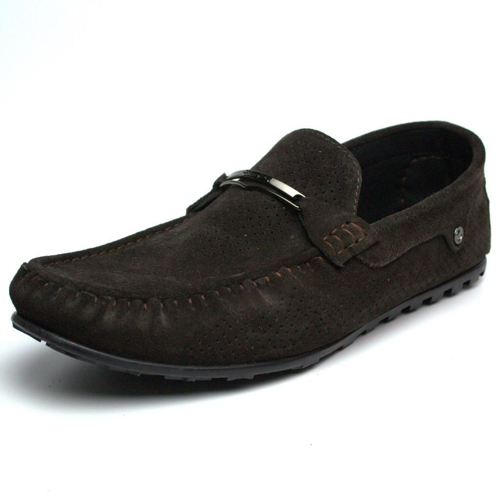 Летние мокасины замшевые коричневые с перфорацией мужская обувь больших размеров Rosso Avangard Cross Wood BS, фото 1