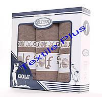 Набор махровых полотенец Gulcan Golf 3шт коричневый