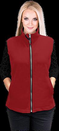 Жилетка VHONEY-L DC флисовая темно-красная рабочая Reis Польша (безрукавка женская) , фото 2