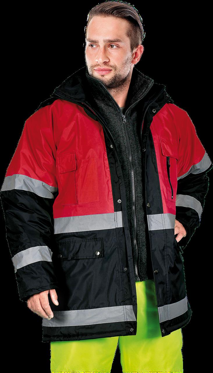 Куртка BLUE-RED GC сигнальная утепленная рабочая Reis Польша (рабочая одежда сигнальная)