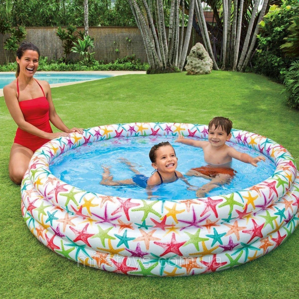 ✅Детский надувной бассейн Intex 56440 «Звездочка», 168 х 38 см