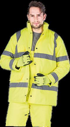 Куртка K-VIS Y утепленная рабочая сигнальная желтая Reis Польша (зимняя рабочая одежда) , фото 2
