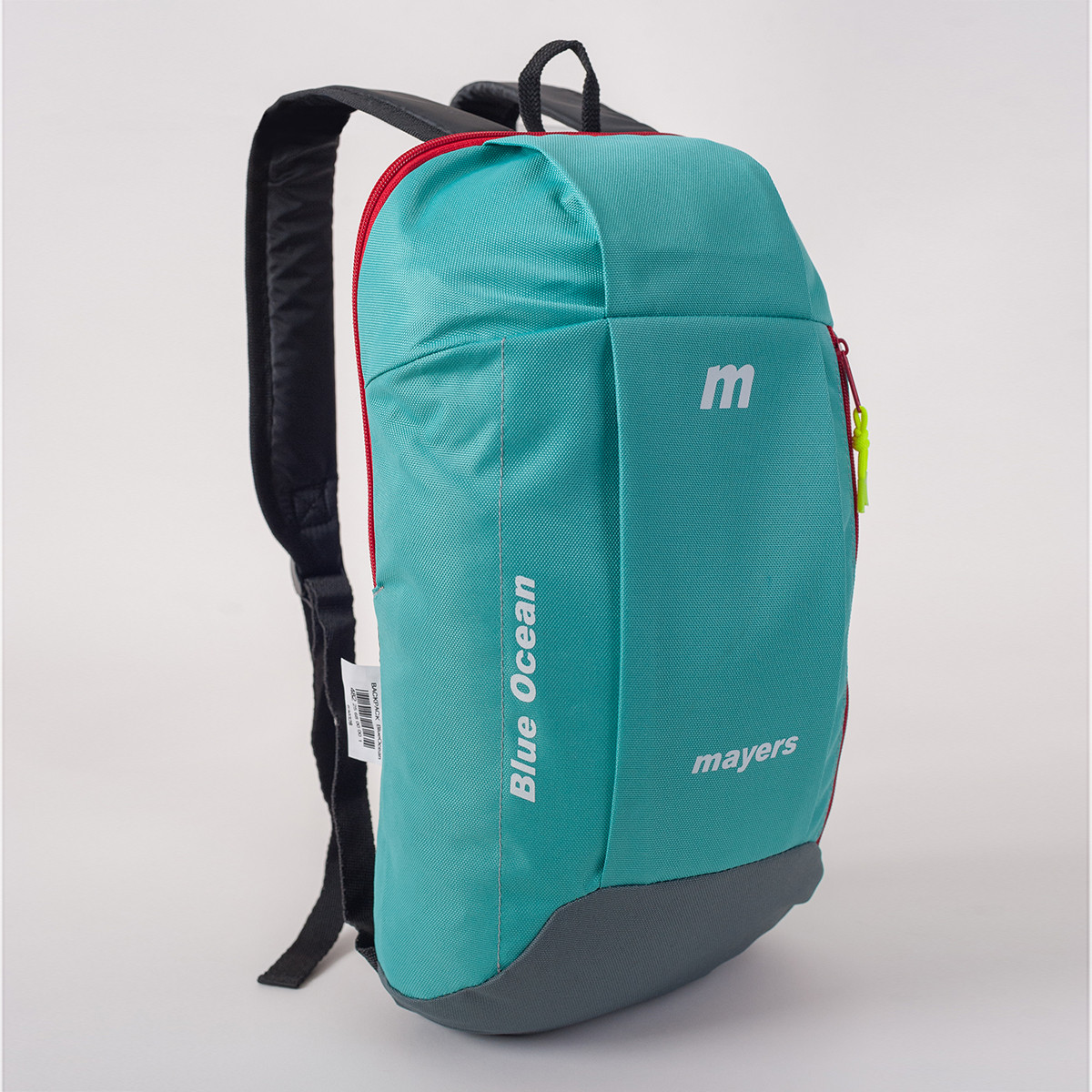 Спортивный рюкзак MAYERS 10L, бирюзовый + серый / красная молния, фото 2