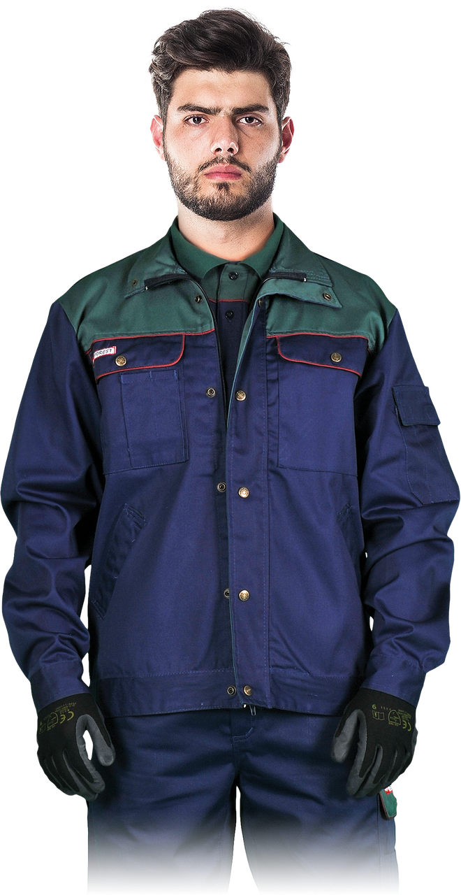 Куртка BF GZ рабочая комфортная мужская темно-синяя REIS Польша (спецодежда для строительных работ)