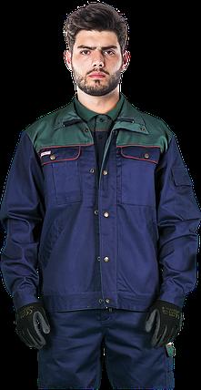 Куртка BF GZ рабочая комфортная мужская темно-синяя REIS Польша (спецодежда для строительных работ) , фото 2