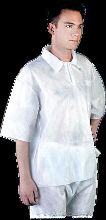 Блуза BFI W медицинская рабочая белая REIS Польша (спецодежда для химической и пищевой промышленности) , фото 2