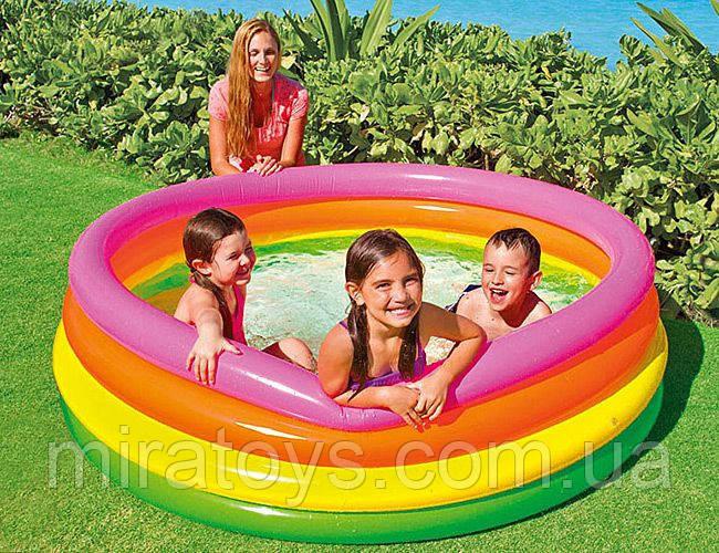 ✅Детский надувной бассейн Intex 56441 «Радуга», 168 х 46 см