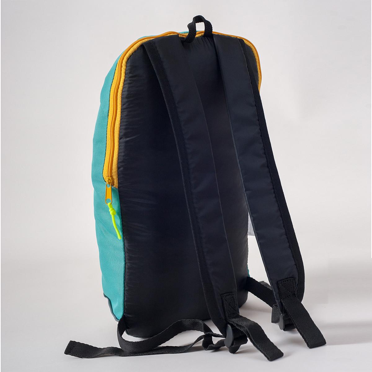Спортивный рюкзак MAYERS 10L, бирюзовый + серый / желтая молния, фото 3