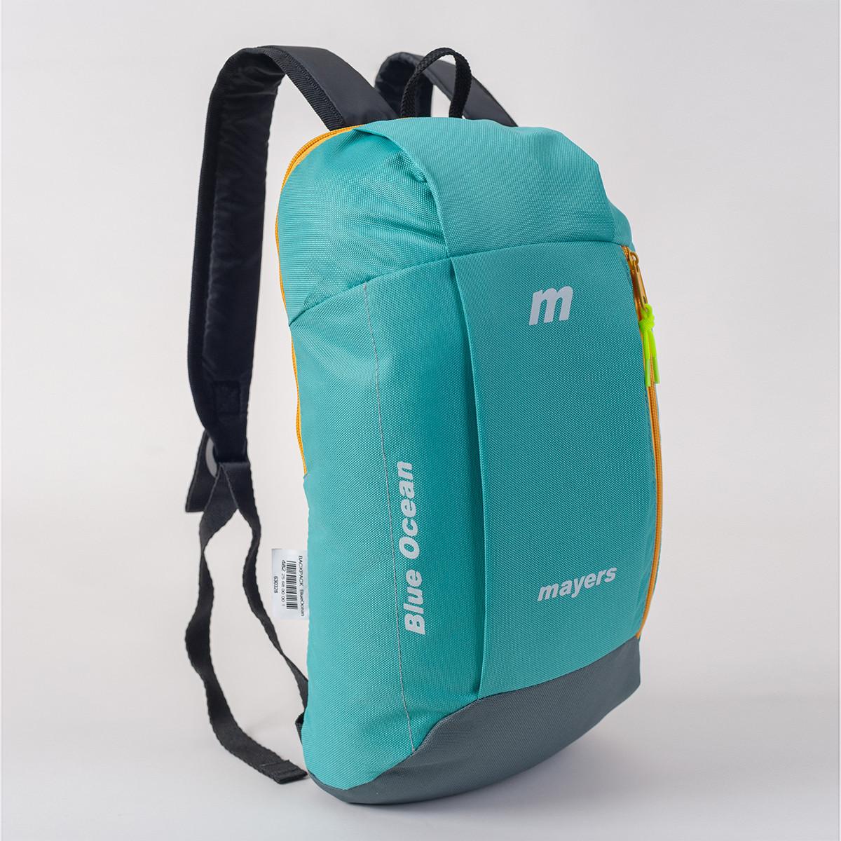 Спортивный рюкзак MAYERS 10L, бирюзовый + серый / желтая молния, фото 2