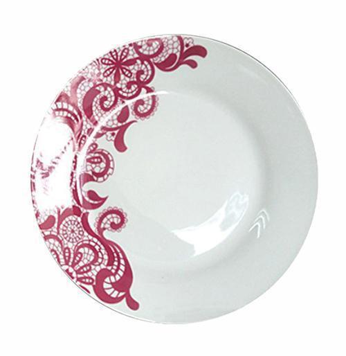 Набор 6 десертных тарелок ST Кружево d 19.5 см Белый (ST-75504_psg)