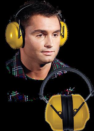 Наушники OSY Y для защиты слуха желтого цвета с черными прибавками Польша, фото 2