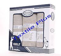 Набор махровых полотенец Gulcan Golf 3шт кофейный, фото 1