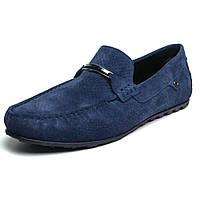 Летние тёмно-синие мужские мокасины перфорация обувь больших размеров Rosso Avangard Cross Sapphire BS, фото 1