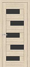 Двері Оміс Доміно ПО. Полотно, ПВХ, чорне скло, фото 3
