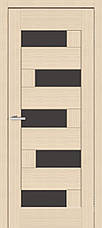 Двері Оміс Доміно ПО. Полотно, ПВХ, чорне скло, фото 2