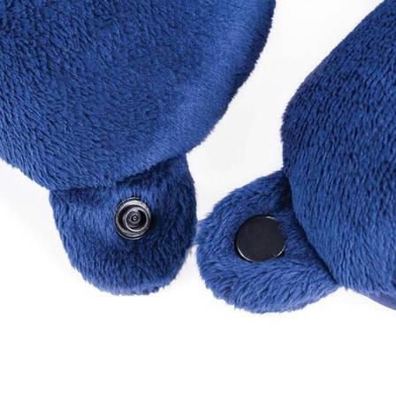 Подушка Spokey Adder II для путешествий Синяя, фото 2
