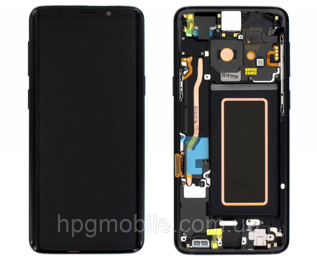 Дисплей для Samsung Galaxy Note 9 N960, модуль в сборе (экран и сенсор), с рамкой, золотистый, оригинал