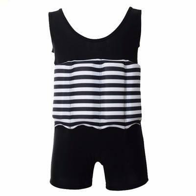 Купальник-поплавок для мальчиков Safe baby swim XL Черный в полоску, фото 2
