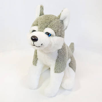 Мягкая игрушка Kronos Toys Собака Хаски 19 см